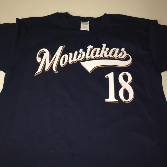 reputable site 6eb2e 5c0ad Milwaukee Brewers Mike Moustakas Shirt NWT